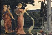 Robert Bateman Three Women Plucking Madrakes oil